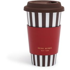 Henri Bendel Iconic Coffee Cup (1.765 RUB) ❤ liked on Polyvore featuring home, kitchen & dining, drinkware, henri bendel and dishwasher safe mugs