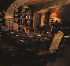 The Wine Cellar beneath the Hacienda at Lon's Hermosa Inn, in Paradise Valley, AZ, is is a candlelit cellar seating up to 12, at a rustic trestle table and features 1890's Chicago brick, reclaimed beams, and trusses. VIDEO: Find out about the venues at Lon's Hermosa Inn.