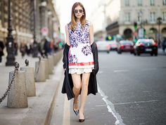 Very Expensive Sunglasses Everyone Is Wearing Chiara Ferragni wears a printed dress, black pumps, black coat, and Dior sunglasses Dior So Real Sunglasses, Sunglasses 2016, Street Chic, Street Style, Dedicated Follower Of Fashion, Trending Sunglasses, Red Carpet Looks, Black Pumps, Who What Wear