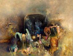 Nearing the Dark Mountain, 2003 Dark Mountains, Henry Thomas, Australian Painters, Surrealism, The Darkest, Artists, Artwork, Painting, Image