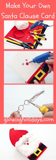 10 easy steps on how to make a three dimensional Santa Claus Card. This unique card will most definitely capture the heart of anybody that is lucky enough to receive it. Your kids or grand kids will also love making them with you...