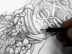 Gorgeous #pencil #monogram #drawing #typography #art