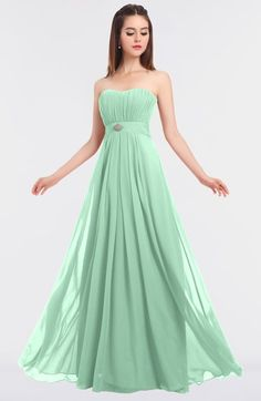 d5f2b5253d4a ColsBM Claire Honeydew Elegant A-line Strapless Sleeveless Appliques  Bridesmaid Dresses Appliques, Tangerine Bridesmaid