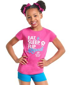 Eat, Sleep, Flip Repeat T-Shirt #alphafactor #shannonmiller
