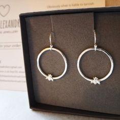 Silver Jewellery, Sterling Silver Jewelry, Cute Bee, Boho Fashion, Take That, Super Cute, Detail, Lady, Earrings