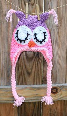 Crochet Owl Hat Sleepy OWL baby kids and by sweethomeboutique, $30.00