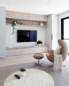 Tv wall design tips for the living room ideas improve the environment 4 Related Home Living Room, Living Room Decor, Living Spaces, Tv Wall Design, House Design, Living Room Tv Unit Designs, Styling Tips, Connect, Flow