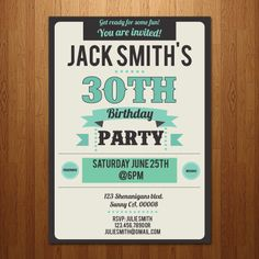 21st, 30th, 40th, 50th, 60th surprise birthday party invitation - any age. $12.00, via Etsy.