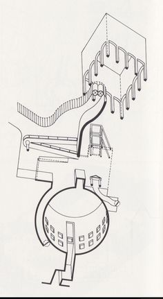 worm's eye abstract - competition design - Museum for North Rhine Westphalia Art Collection - James Stirling - 1975 Architecture Sketchbook, Architecture Plan, James Stirling, Isometric Shapes, Worms Eye View, Axonometric Drawing, Architectural Section, Concept Diagram, Technical Drawing