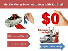 Looking for an auto loan for bad credit with guaranteed approval? We can help you to get guaranteed auto loan approval with bad credit at affordable interest rate.