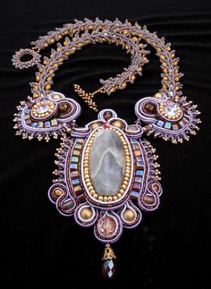 Soutache Necklace by Miriam Shimon