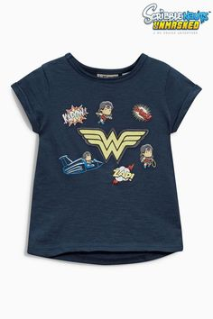 Buy Navy Superhero T-Shirt from the Next UK online shop Girl Outfits, Cute Outfits, Kids Fashion Boy, Next Uk, Dc Comics, Wonder Woman, Stylish, Tees, Mens Tops