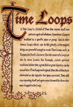 "Book of Shadows:  ""Time Loops."""