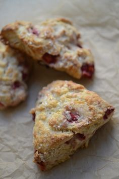 Strawberry Buttermilk Scones #recipe