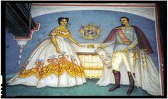 Elena Cuza si Alexandru Ioan Cuza in Biserica din Ruginoasa - Ziaristi Online Princess Zelda, Gallery, Painting, Fictional Characters, Royals, Heidelberg, Roof Rack, Painting Art, Paintings