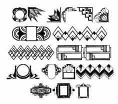 Art Deco motifs