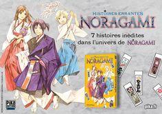 Noragami Histoires Errantes arrive chez Pika ! Suite au succès de la série Noragami en France, Pika est fier d'annoncer la sortie le 18 mai prochain du one-shot #Noragami Histoires Errantes. Découvrez sept histoires inédites de l'univers de la série afin d'en savoir plus sur cette dernière ! #NoragamiHistoireErrantes #receuil #manga #anime #livre #parution #mai2016