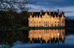 Chateau D'Escliomont at dusk