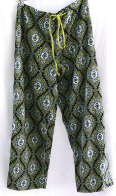 Vera Bradley Pajamas Retired Cambridge Corduroy Pants Bottoms Size Small S #VeraBradley #LoungePantsSleepwear #Everyday