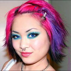 cabelo colorido massa!