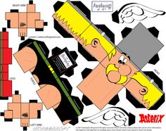 paper toy_asterix