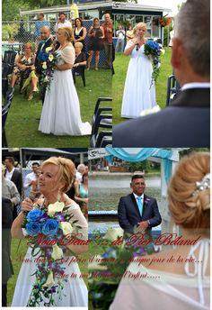 T'sé...quand tu te sens privilégié de vivre ça...Claire, la mariée qui chante ''Nous Deux'' à son futur, Claude, en faisant son entrée... tellement d'amour entre les deux...frisson ;)