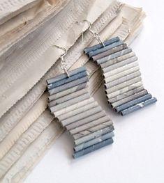 Recycled Paper Earrings by Grizelda Prunoostipucker
