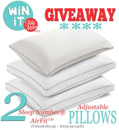Win 2 Sleep Number Air-Fit Pillows at TidyMom.net