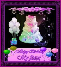 HB MY FRIEND Happy Birthday Quotes, Happy Birthday Me, Birthday Greetings, Birthday Wishes, Birthday Parties, Birthday Heaven, Dad In Heaven, Angels In Heaven, Birthday Board