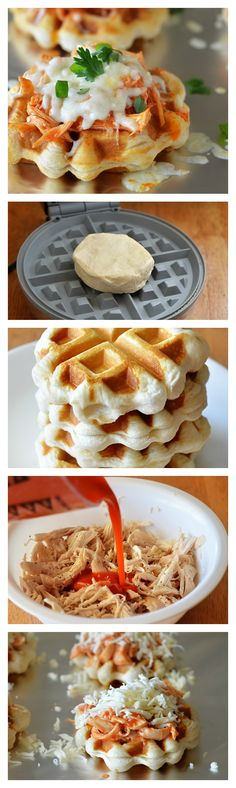 Turn your favorite app into a meal with Buffalo Chicken Waffles!