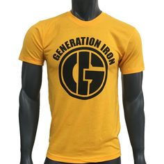 Generation Iron 360 Yellow Tee | Generation Iron Shop Yellow Tees, Yellow T Shirt, Athletic Clothes, Athletic Outfits, Fitness Clothing, Sleeve Designs, Back To Black, Old School, Iron