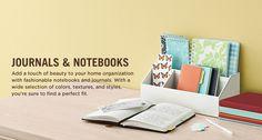 Jornals e Notebooks - Dê um toque de beleza a sua organização de origem com cadernos e revistas de moda.  Com uma grande variedade de cores, texturas e estilos, você está certo de encontrar um ajuste perfeito.