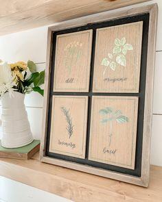 Easy DIY botanical art with signs from the Target dollar spot. Simple spring decor idea! Diy Coat Rack, Target Dollar Spot, Vintage Gardening, Crossed Fingers, Vintage Tins, Sign I, Botanical Art, Wooden Signs, Easy Diy