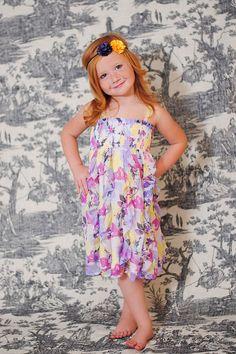 Chelsea Purple & Yellow Satin Fabric Flowers by BrittneyLeona, $5.95