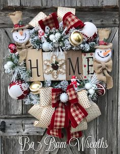 BaBamWreaths on Etsy Christmas Mesh Wreaths, Deco Mesh Wreaths, Diy Christmas Gifts, Rustic Christmas, Christmas Projects, All Things Christmas, Holiday Crafts, Winter Wreaths, Door Wreaths
