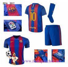 la liga: Maillots FC Barcelone Rouge/Bleu Enfant Kits (MESSI 10) Domicile 2016…