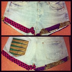 African Print shorties....absolutely gorgeous cut! House of Faraja