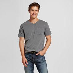 Men's V-Neck T-Shirt Cloak Gray Xxl - Mossimo Supply Co.
