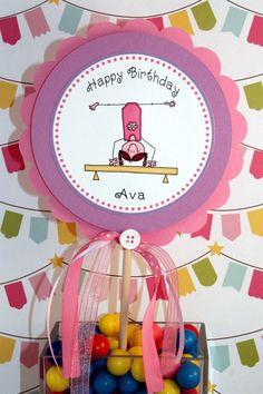 Gymnastics Party Favors DIY Printable Cupcake