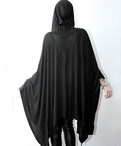 Hooded Jersey Poncho - repurpose t-shirts