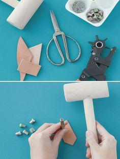stamped leather diy craft project