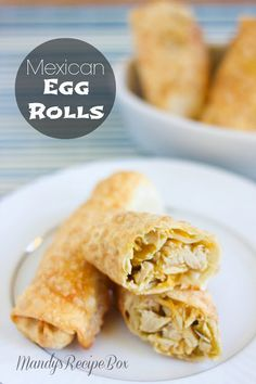 Mexican Egg Rolls on Mandy's Recipe Box. #mexican #eggrolls