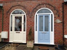 Arched entrance doors & frames by Traditional Conservatories