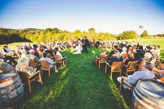 nice semi-circle ceremony set up so you can still walk down the aisle and be surrounded with love