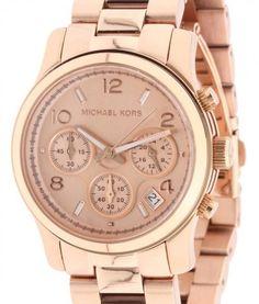 7fc21d349aa1 Michael Kors Rose Gold Runway Chronograph MK5128 Womens Watch