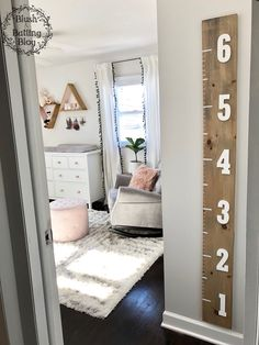 New Ideas Baby Girl Nursery Room Ideas Grey Rockers Baby Bedroom, Baby Room Decor, Kids Bedroom, Diy Nursery Decor, Baby Nursery Diy, Baby Room Diy, Nursery Ideas Girl Grey, Ideas For Baby Room, Pink And Grey Nursery Baby Girl