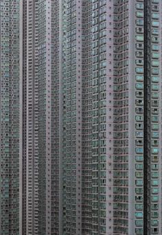 """grossnational: """" Just one of the 6,588 high-rise buildings in Hong Kong in Michael Wolf's series 'Architecture of Density' http://photomichaelwolf.com/#architecture-of-densitiy/1 """""""
