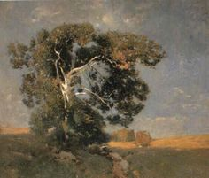 """""""Old Sycamore,"""" Emil Carlsen, oil on canvas, 32 x 36"""", private collection."""