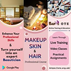 Have you been thinking of becoming a professional beautician? Seize the opportunity to join professional Makeup, Skin and Hair Professional Course offered by Online Training and Education (OTE) website/app and give wings to your career in beauty industry.