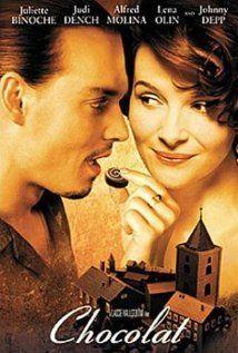 Chocolat. Director: Lasse Hallström, Starring: Stars: Juliette Binoche, Judi Dench, Alfred Molina and Johnny Depp